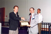 Image of AAPA6.157 - Don Pedersen with Eugene Jones, 1998