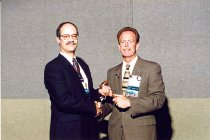 Image of AAPA6.158 - Don Pedersen with Walter Stein, 1998