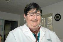Image of AAPA7.005 - Marsha Delevan at work, 2005