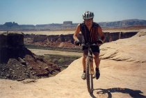 Image of Peter Chapa, mountain biking, 2000