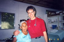 Image of AAPA7.031 - Peter Chapa with patient, 2001