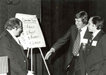 Image of AAPA8.002 - Roger Whittaker, William Wyers, Don Fisher at early CCOW meeting