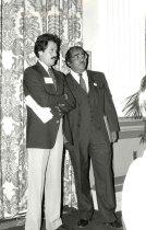 Image of AAPA8.025 - Peter Rosenstein and Charles Rangel, 1982