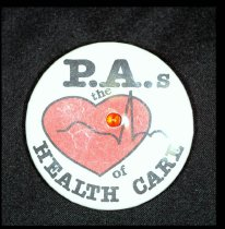 """Image of """"PAs the Heart of Health Care"""" pin"""