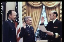 Image of PAA00009.15 - George McCullough being appointed to the White House Medical Staff