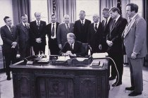 Image of PAA00009.21 - Jimmy Carter signing the Rural Health Clinic Services Act