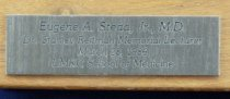 Image of Engraved plate for pen holder