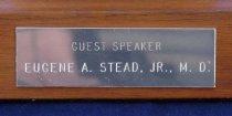 Image of Engraved plate for guest speaker medal