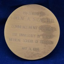 Image of Health Science Center medal reverse