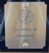 Image of Clock plaque close-up