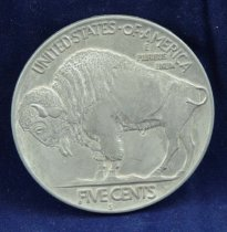 Image of Buffalo nickel reproduction reverse