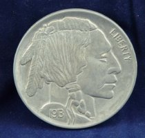Image of Buffalo nickel reproduction obverse