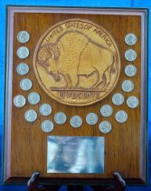 Image of PAM00053 - Buffalo nickel plaque