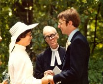 Image of 1977 wedding with minister