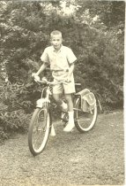 Image of Son on bike