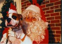 Image of Santa and dog