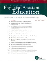Image of The Journal of Physician Assistant Education: The Official Journal of the Physician Assistant Education Association