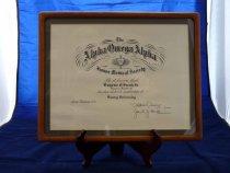 Image of PAR00275 - Alpha Omega Alpha Certificate