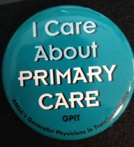 Image of I Care about Primary Care Button
