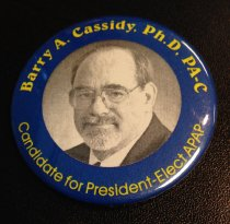 Image of MUC00109 - Barry A Cassidy Candidate for President Elect APAP