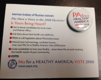 Image of MUC00110 - PAs for a Healthy America Vote 2008