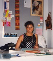 Image of RHB_13 - Dawn Morton Rias in her Office, at SUNY Downstate ca 1993