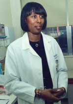 Image of RHB_52 - Robin Hunter-Buskey in White Clinical Coat 1995