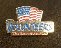 Image of MUC00298 - Volunteers, the Heart of America Pin