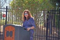 Image of Karen Mulitalo, President of the PAHx, gives remarks