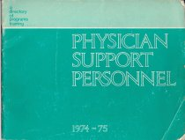 Image of A Directory of Programs Training Physician Support Personnel 1974-1975