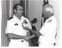 Image of SIC00034 - William H. Feyh receives Navy Achivement Medal
