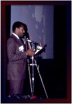 Image of SIC00056 - Steve Turnipseed giving speech at Veterans Caucus Memorial Ceremony