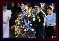 Image of John Padgett and Randy Danielsen at Vietnam Veterans Memorial