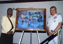 Image of SIC00063 - Vice Admiral James Zimble and Jane Smith with George Skypeck Print