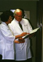 Image of SIC00085 - Barbara Harris, PA-C, Consults with Ophthalmologist Dr. Harris