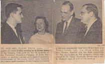 Image of SIC00086 - Dr. Eugene Stead, Evelyn Stead, John Braun, and Richard Scheele
