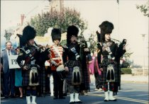 Image of SIC00277 - Bagpipers lead the march on Trenton, NJ, 1989