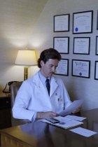 Image of SIC00373 - Paul Hendrix at his desk in his office at Duke University