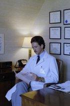 Image of SIC00374 - Paul Hendrix at his desk in his office at Duke University