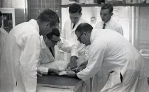 Image of SIC00394 - The Original Four Duke University PA Students in Class