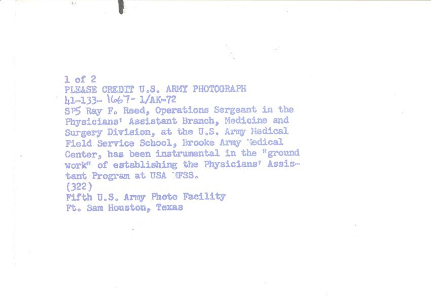 SIC00420 - Ray Reed, Operations Sergeant in Physician