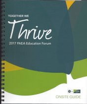 Image of 2017 PAEA Education Forum Conference Materials - Together We Thrive