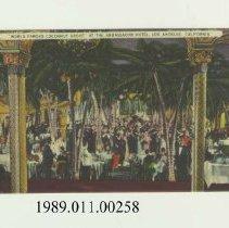 "Image of 1989.011.00258 - ""World Famous Cocoanut Grove"" At the Ambassador Hotel, Los Angeles, California"