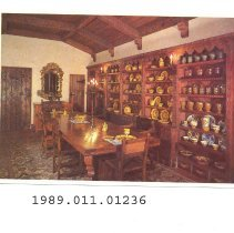 Image of 1989.011.01236 - The Dining Hall at Scotty's Castle, Death Valley, California