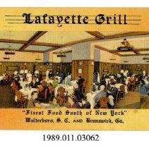 Image of 1989.011.03062 - Lafayette Grill, Brunswick, Ga.