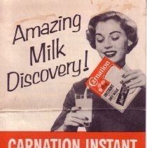 Image of 1989.111.0265 - Amazing Milk Discovery! Carnation Instant Famous Magic Crystals Read All About it!