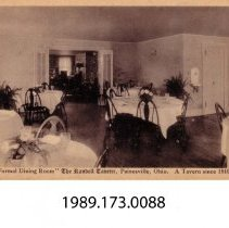 "Image of 1989.173.0088 - ""Formal Dining Room"" The Randell Tavern, Plainesville, Ohio. A Tavern since 1810."
