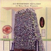 Image of 1989.176.0526 - Old Bookbinder's Restaurant; Philadelphia, Pennsylvania