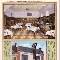 Image of 1989.184.0026 - Occidental Restaurant, Fredericksburg, Virginia