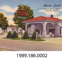 Image of 1989.186.0002 - Black's Court, 10 miles West of Rainelle, West Virginia